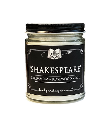 'Shakespeare'-9 oz Literary Scented Soy Candle