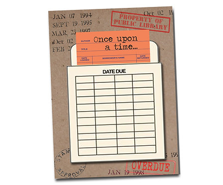 Once upon a time ... Library Card Series - Friendship