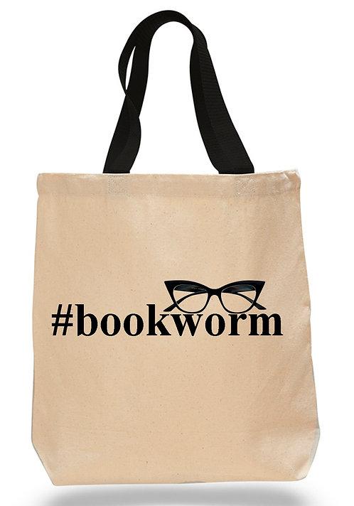 Bookworm Canvas Tote Bag