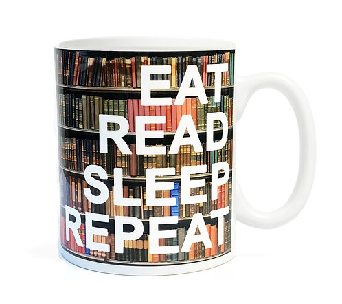 Eat Read Sleep Repeat 11 ounce Ceramic Mug