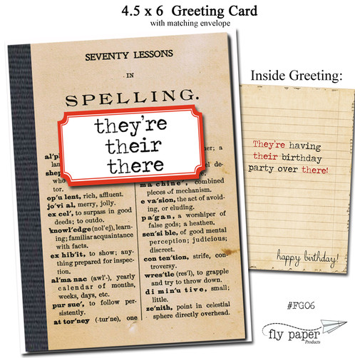 Theyre their there birthday grammar and geek series greeting cards measure 45 x 6 each card has a vintage nostalgic grammar or mathematic theme on the outside and a special m4hsunfo