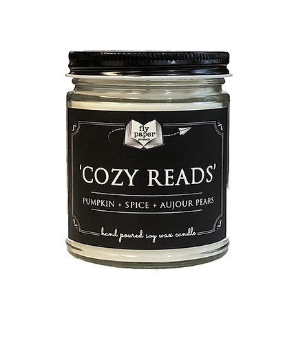 Cozy Reads -9 oz Literary Scented Soy Candle