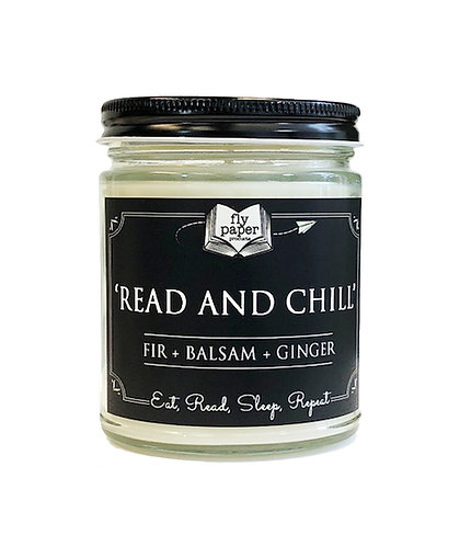 Read and Chill -9oz Glass Soy Candle
