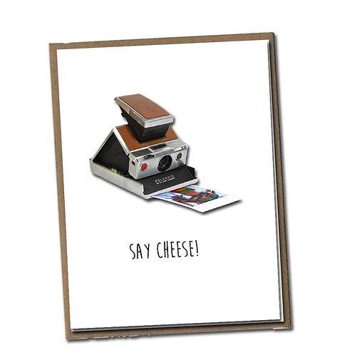 Say cheese!  Linen Series - Birthday Card