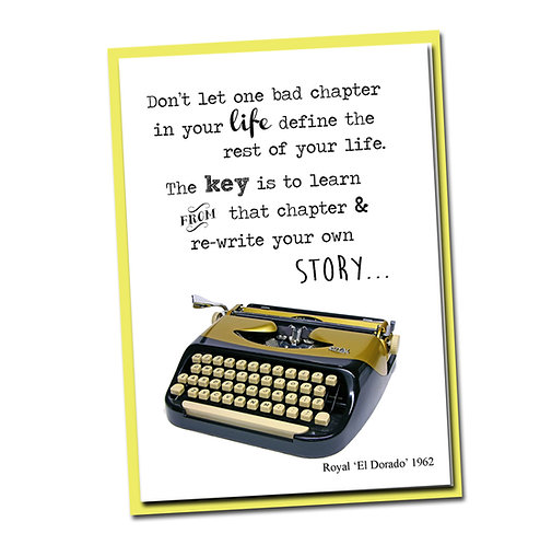 Don't let one bad chapter in your life define the rest ... - Blank Inside