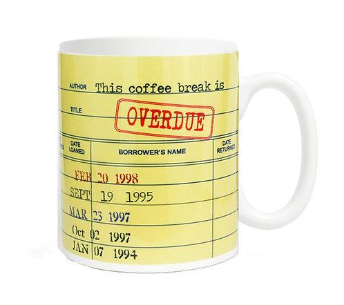 Overdue Library Card 11 oz Coffee Mug