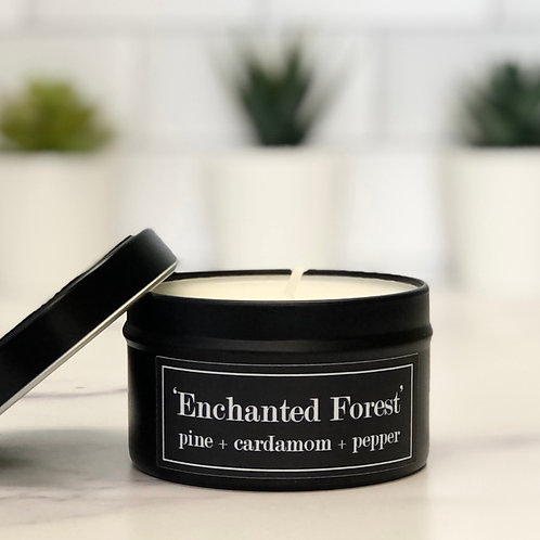 Enchanted Forest 6 oz Literary Tin Soy Candle (Qty 2 @ $7.00ea)
