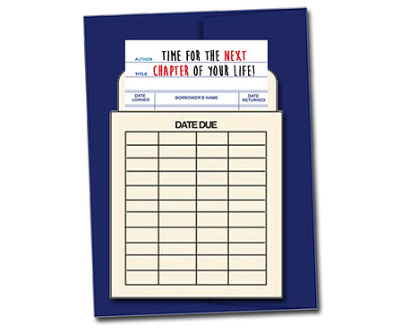 Time for the next chapter of your life. - Book Pouch Card
