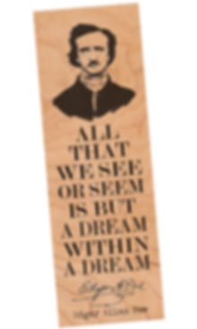 FBM-POE LARGE-1.jpg Edgar Alan Poe Bookmark, The Raven, Tell Tale Heart, Poet, Author, Book Love Gifts, Literary, Teacher