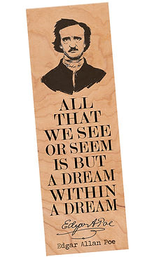 FBM-POE LARGE-1.jpg Edgar Alan Poe Bookmark, The Raven, Tell Tale Heart, Poet, Author, Book Love Gifts, Literary, Teacher