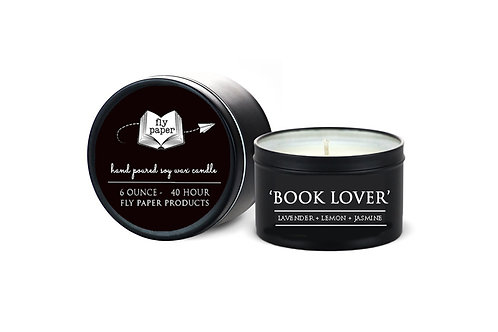 'Book Lover' 6 oz Literary Tin Soy Candle