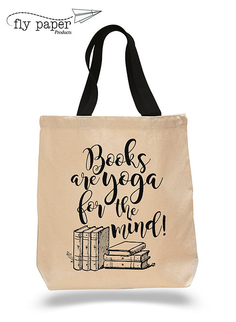 Books are Yoga for the Mind! Canvas Tote Bag