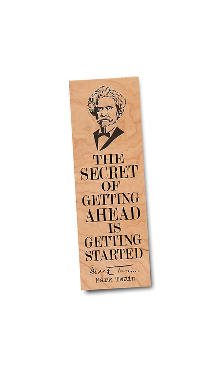 Mark Twain- Wooden Bookmark