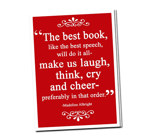 The best book, like the best speech, ... - Book Pouch + Library Card inside