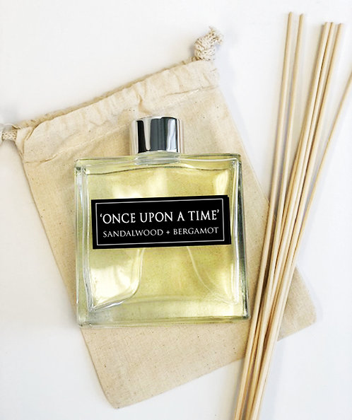 Once Upon a Time 7oz Reed Diffuser- Sandalwood + Bergamot +Patchouli