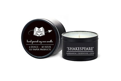 'Shakespeare' 6 oz Literary Tin Soy Candle