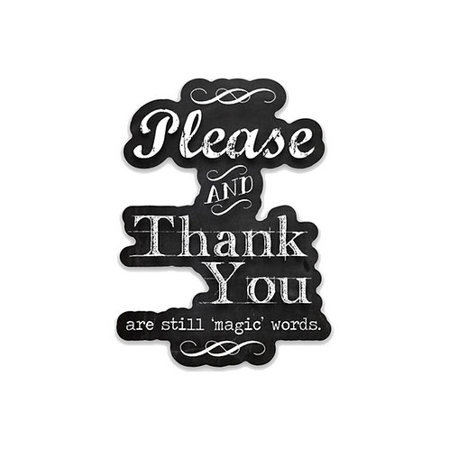 Please and thank you-Vinyl Sticker