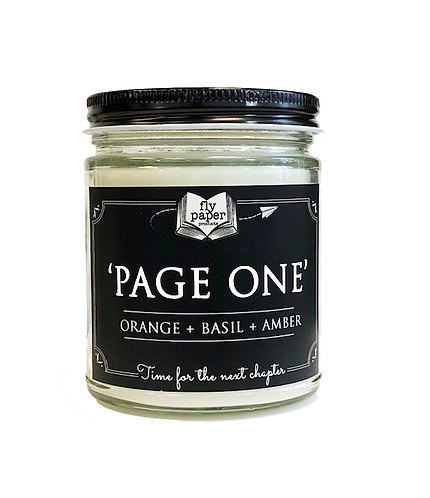 Page One -9oz Glass Soy Candle
