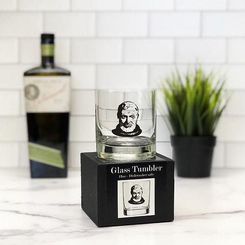 Ernest Hemingway 11 oz Glass Tumbler