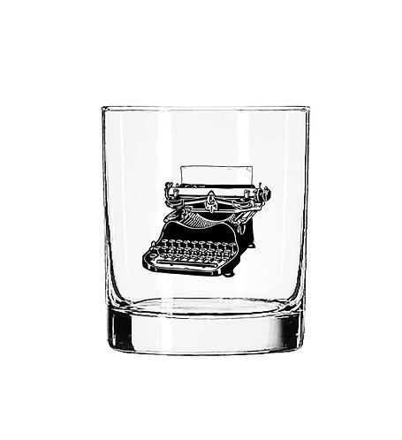 Vintage Typewriter 11 oz Glass Tumbler