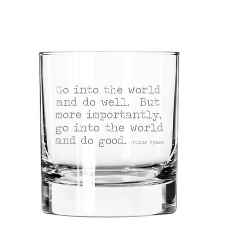 Go into the World and Do Good 11 oz Glass Tumbler Available 2/1/2021