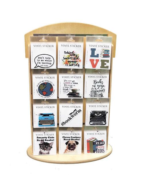 Vinyl Stickers + Wooden Display