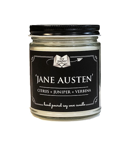 'Jane Austen'' 9 oz Literary Scented Soy Candle