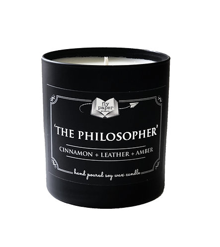 'The Philosopher' 11 oz Black Matte Tumbler Soy Candle