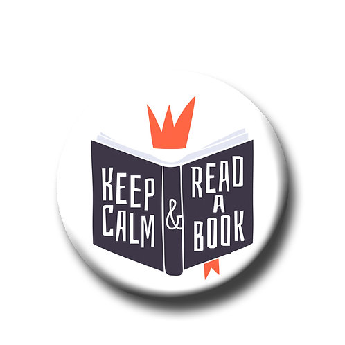 "Keep Calm and Read a Book- 1.25"" Pinback Button"