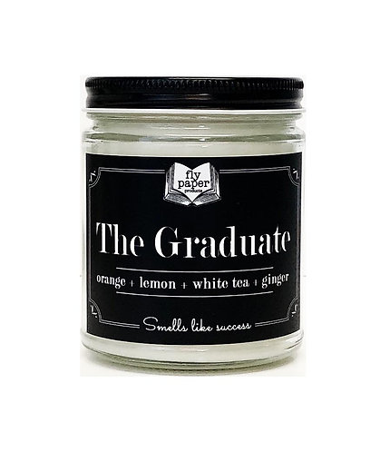 The Graduate 9oz Glass Soy Candle