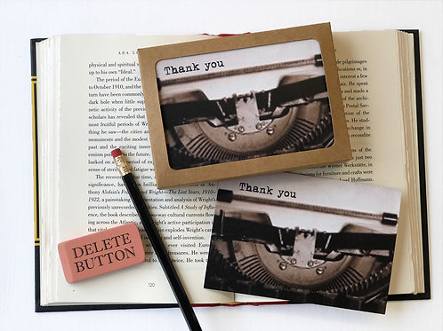 Thank You - Boxed Set of 8 Thank You Note Cards