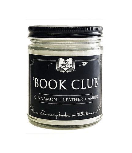 Book Club -9oz Glass Soy Candle
