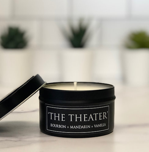 The Theater 6 oz Literary Tin Soy Candle (Qty 2 @ $7.00ea)