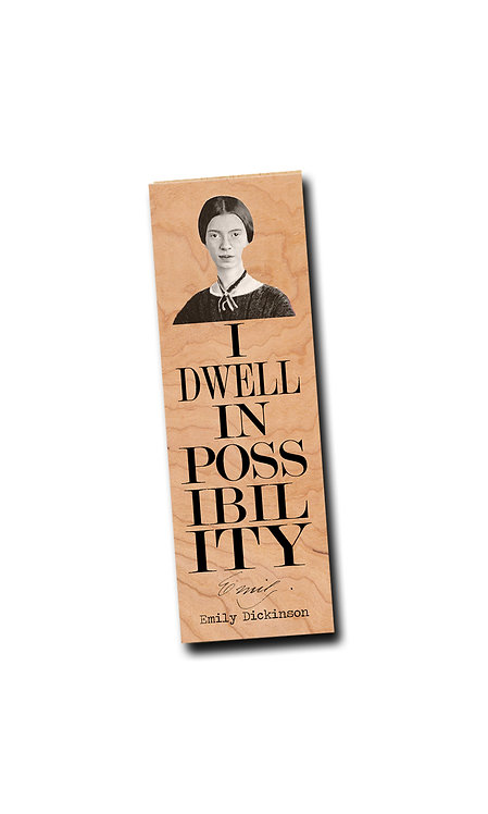 Emily Dickinson- Wooden Bookmark