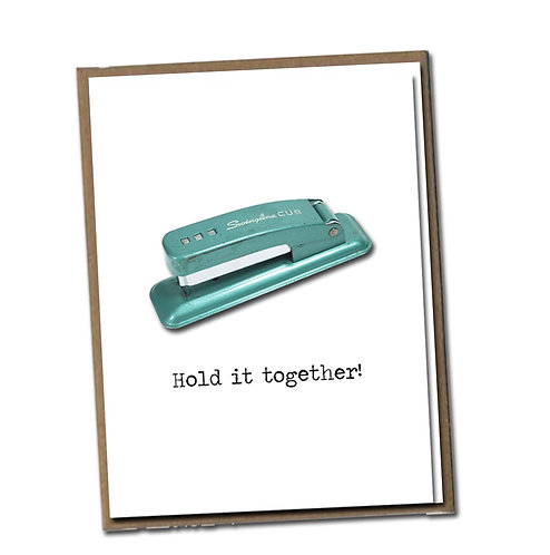 Hold it together! Linen Series - Birthday Card