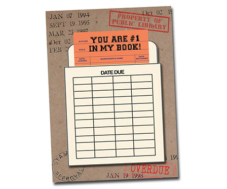 You are #1 in my book! Library Card Series - Blank