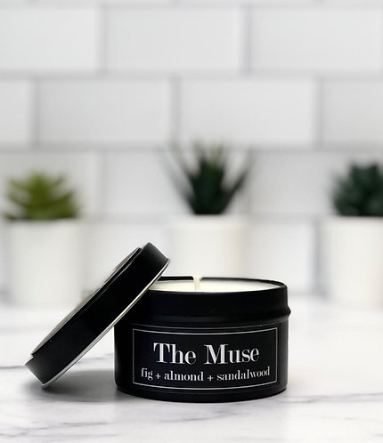 The Muse 6 oz Literary Tin Soy Candle (Qty 2 @ $7.00ea)