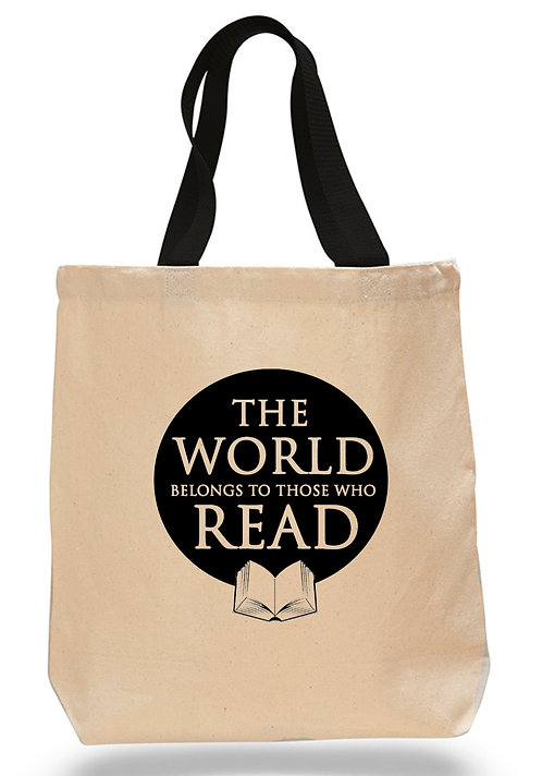 The World Belongs to those who Read Canvas Tote Bag