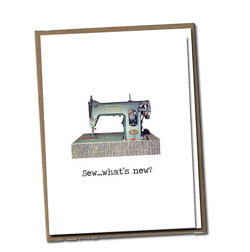 Sew ... what's new? Linen Series - Birthday Card