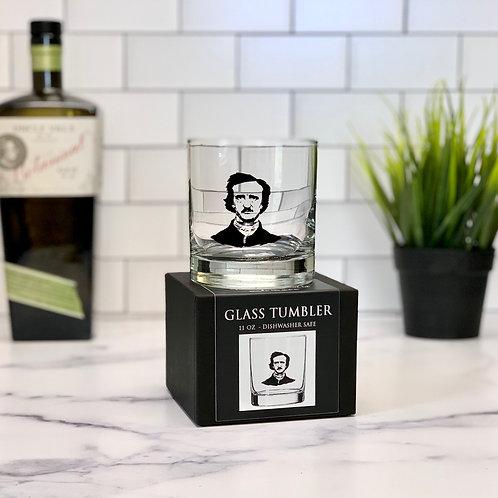 Edgar Allen Poe 11 oz Glass Tumbler