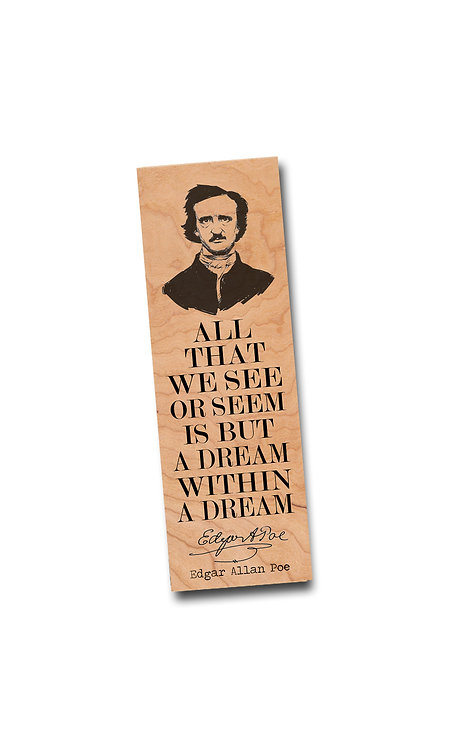 Edgar Allan Poe- Wooden Bookmark