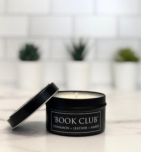 Book Club 6 oz Literary Tin Soy Candle (Qty 2 @ $7.00ea)