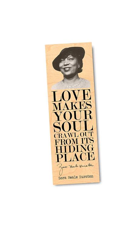Zora Neale Hurston Wooden Bookmark