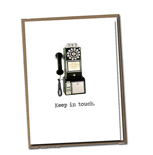 Keep in Touch. Linen Series - Blank Inside