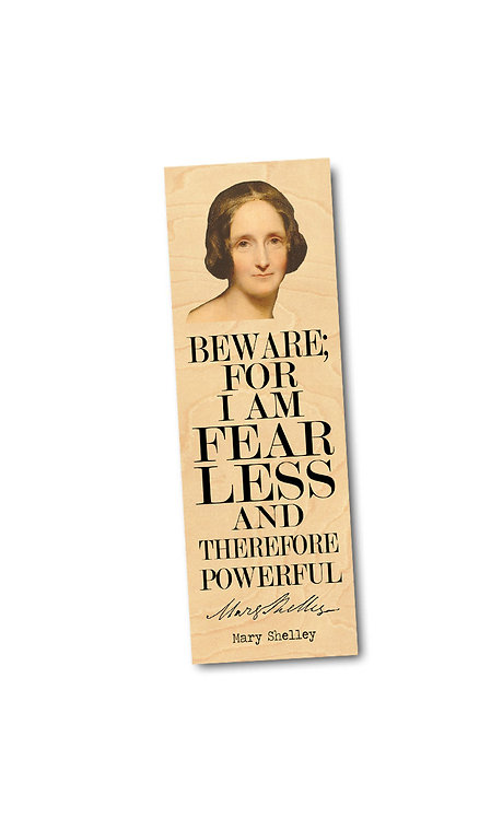 Mary Shelley Wooden Bookmark