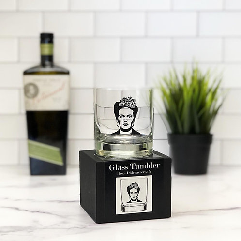 Frida Kahlo 11 oz Glass Tumbler