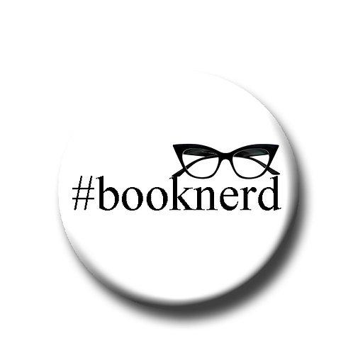 """#booknerd- 1.25"""" Pinback Button"""