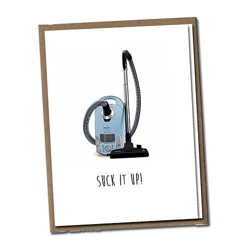 Suck it up! Linen Series - Birthday Card
