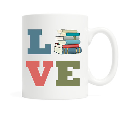 Love Books 11 ounce Ceramic  Mug