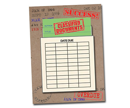 Classified Documents Library Card Series - Congratulations